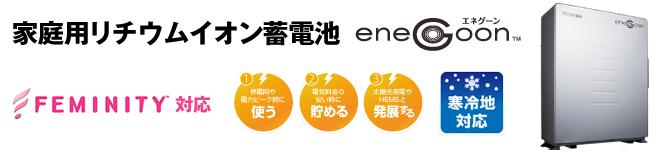 定置式家庭用蓄電システム「エネグーン」