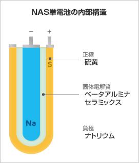 NAS単電池の内部構造